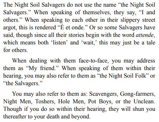 The Night Soil Salvagers by Gregory Norman Bossert