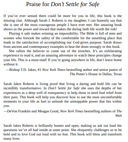 Don't Settle for Safe by Sarah Jakes Roberts epub